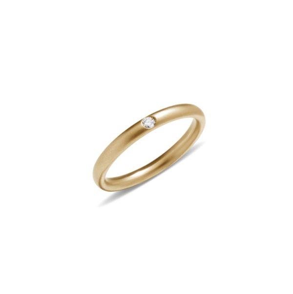 Anello Lucciole in oro giallo sabbiato con diamante