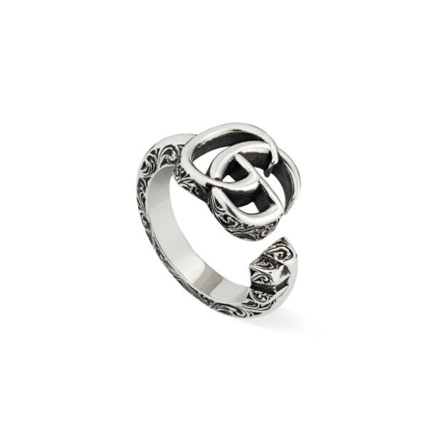 Anello GG Marmont chiave in argento