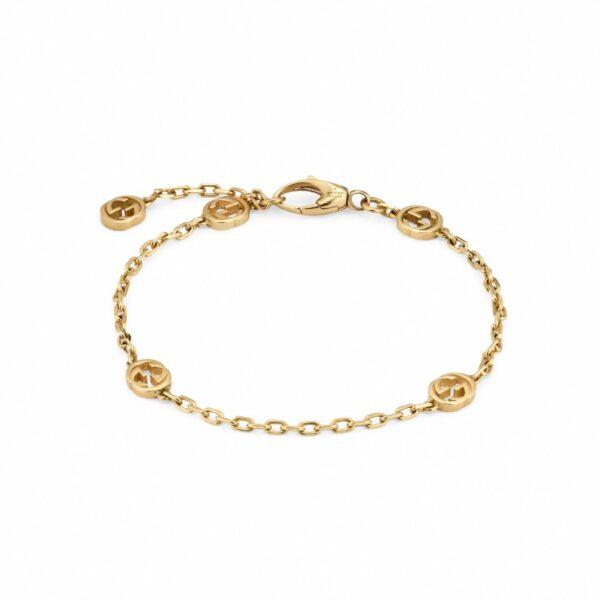 Bracciale Interlocking G in oro giallo
