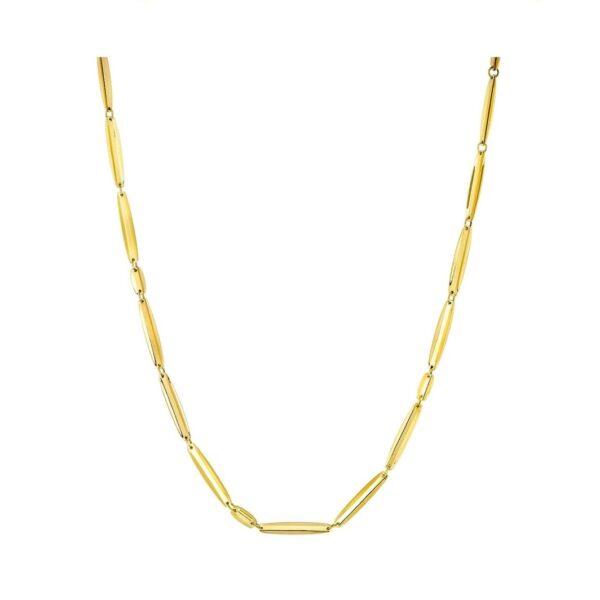 Collana VIA in oro giallo, forma ovale